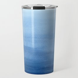 Blue Watercolor Ombré Travel Mug