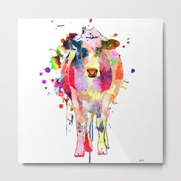 Colored Cow Metal Print