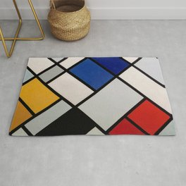Theo van Doesburg - Contra-Compositions of Dissonances XVI - Abstract De Stijl Painting Rug