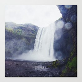 Standing at a Waterfall in Iceland Canvas Print