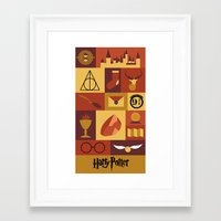 potter Framed Art Prints featuring Potter by Polvo
