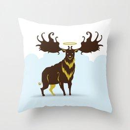 God's Zoo: Irish Elk Throw Pillow