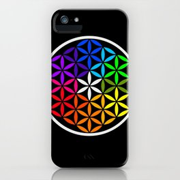 Secret flower of life iPhone Case