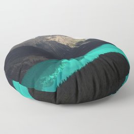 Canada's Stunning Peyto Lake With Majestic Mountains Floor Pillow