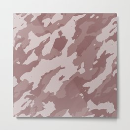 Colorful Marble Abstract Style Beige Brown Metal Print