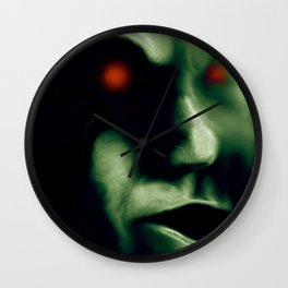 Little green men, no just ugly and androgynous Wall Clock