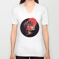 bride V-neck T-shirts featuring the bride by Peg Essert