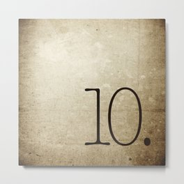NUMBER 10 Metal Print