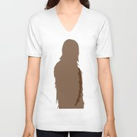 chewbacca V-neck T-shirts featuring Chewbacca by olive hue designs