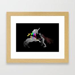 Unicorn Slayer Framed Art Print