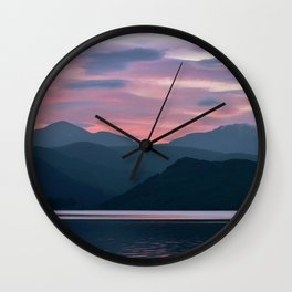 Majestic Skies   Musical Crime Productions   Highland Photography   Bonnie Banks of Loch Lomond Wall Clock