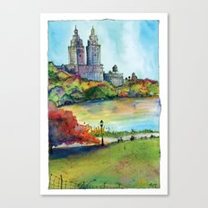 The San Remo in Autumn, Central Park, NYC Canvas Print