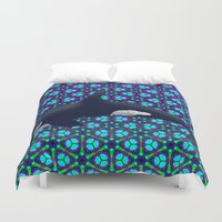 orca Duvet Covers featuring Orca by Dusty Goods