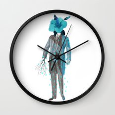 Mr. Flower Wall Clock