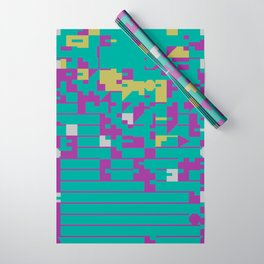 Abstract 8 Bit Art Wrapping Paper