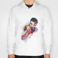 zombie Hoodies featuring Zombie by Camille Ratté