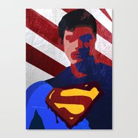 superman Canvas Prints featuring Superman by Scar Design