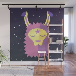 Yacana: The Space Llama Head Wall Mural