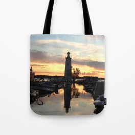 Sylvan Lake Lighthouse Tote Bag