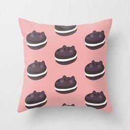 Cat Food - Cookie Throw Pillow