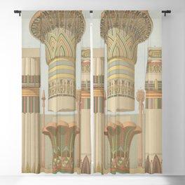 Egyptian Columns Blackout Curtain