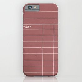 Library Card BSS 28 Negative Red iPhone Case