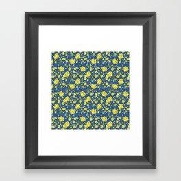 Floral Love of Mustard Framed Art Print