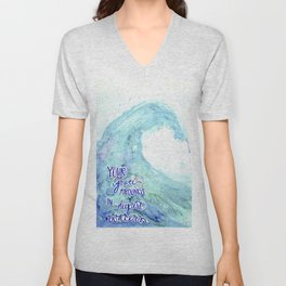 Grace Abounds In Deepest Waters Unisex V-Neck