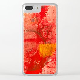 Red Clear iPhone Case