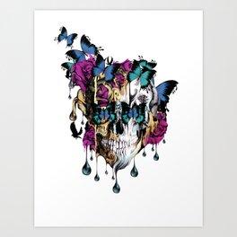 Flomo Butterfly Skull Art Print