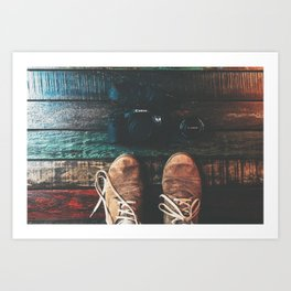 SHOES - CANON - CAMERA - PHOTOGRAPHY Art Print