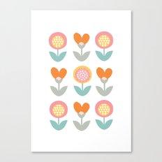 Whimsical flower print Canvas Print