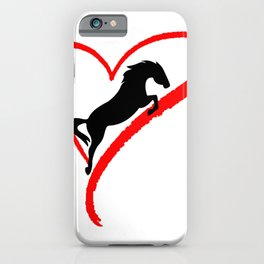 Riding Horse Lover iPhone Case