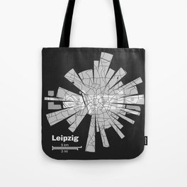 Leipzig Map Tote Bag