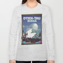 Dykh-Tau, Russia mountain poster. Long Sleeve T-shirt