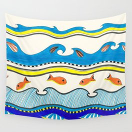 Summer Time Fun Pattern Marker Ink Wall Tapestry