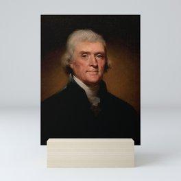 Official Presidential portrait of Thomas Jefferson Mini Art Print
