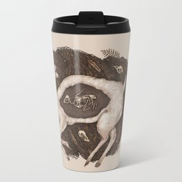 Predaceous Herbivore, Ghost Deer Travel Mug