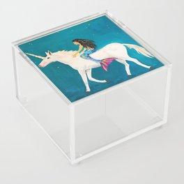 To the Land of Mermaids and Unicorns Acrylic Box