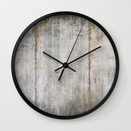 Concrete Wall Wall Clock