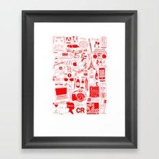 Graphics Design student poster Framed Art Print