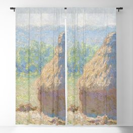 Haystacks, end of Summer by Claude Monet Blackout Curtain