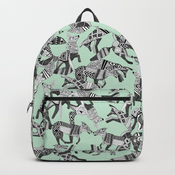woodland fox party mint Backpack