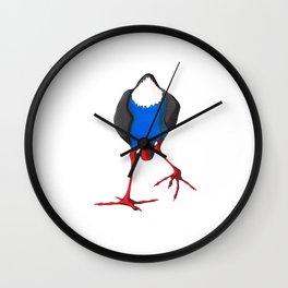 Kooky Pukeko 3/4 Wall Clock