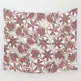 watercolor pomegranates Wall Tapestry