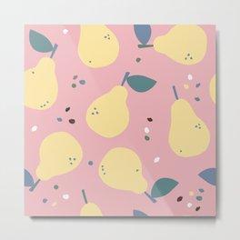 Pears Neck Gator Pear Metal Print