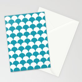 Fan Pattern 321 Turquoise Stationery Cards