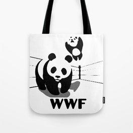 WWF Panda Wrestling (Parody) Tote Bag
