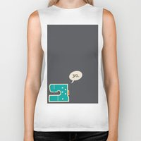 sewing Biker Tanks featuring sewing yo. by Go To Design