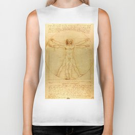"Leonardo da Vinci ""The Vitruvian Man"" Biker Tank"